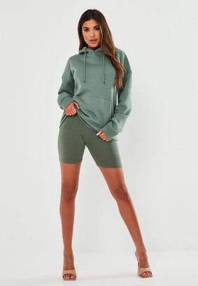 Missguided Green Oversized Basic Hoodie