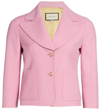 Gucci Crepe Wool Silk Jacket