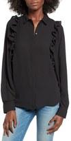 Leith Women's Ruffle Crepe Shirt