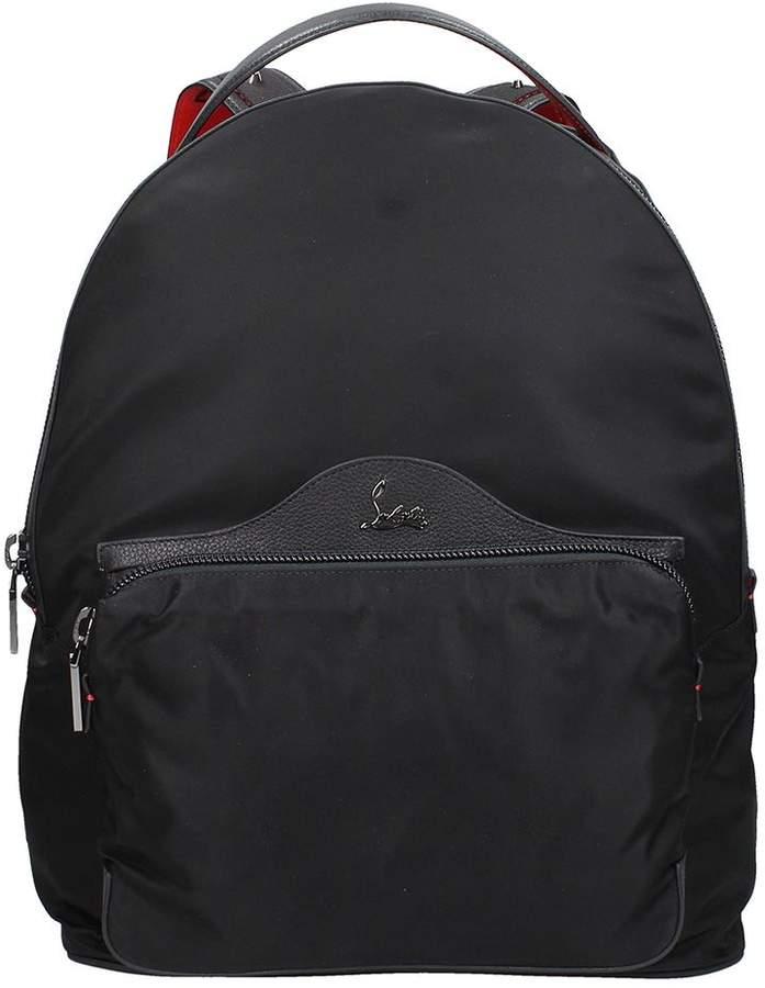 Christian Louboutin Backloubi Black Nylon Backpack