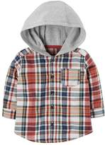 Carter's Baby Boy Hooded Flannel Shirt
