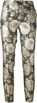Christian Pellizzari floral jacquard trousers