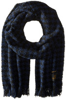 Scotch & Soda Chunky Boucle Yarn Scarf in Graphic Pattern