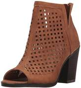 Sugar Women's vael Perf Open Toe Stacked Block Heel Fashion Ankle Bootie,8.5 M US