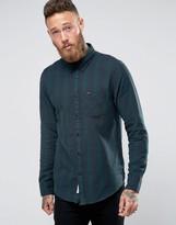 Lee Buttondown Brushed Check Shirt Green