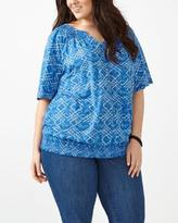 Penningtons d/c JEANS Short Sleeve Printed Peasant Top