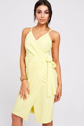 Paper Dolls Utah Lemon Wrap Dress