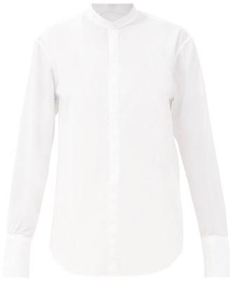 Bourrienne Paris X - V Astrale Stand-collar Cotton-blend Shirt - White