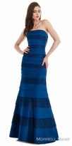 Morrell Maxie Strapless Horizontal Panel Evening Gown