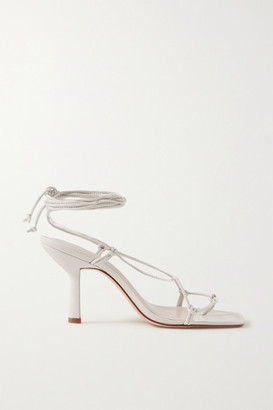 PORTE & PAIRE Knotted Leather Sandals - Off-white
