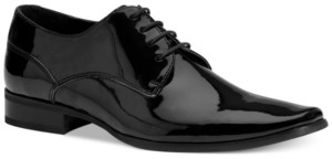 Calvin Klein Men's Brodie Black Patent Oxford Men's Shoes