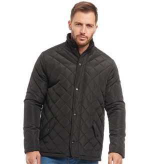 Onfire Mens Quilted Jacket Black