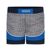 Armani Junior Armani JuniorBaby Boys Grey & Blue Swim Shorts