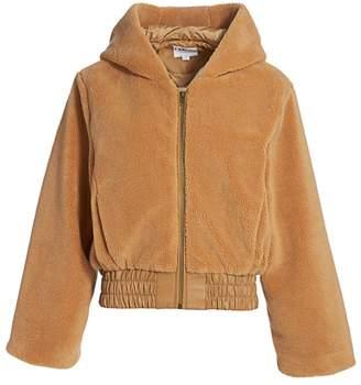 I.AM.GIA 717 Teddy Hooded Bell-Sleeve Jacket