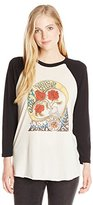Obey Women's Three Roses Graphic Raglan Tee