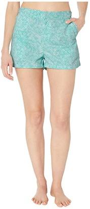 Cabana Life Aqua Citrus Microfiber Swim Shorts Bottoms (Mint Multi) Women's Swimwear