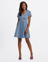 Draper James Mixed Dot Love Circle Dress