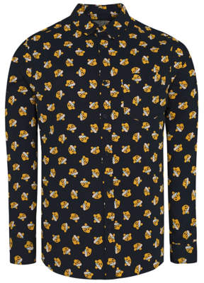 George Children in Need Pudsey Bear Print Navy Shirt