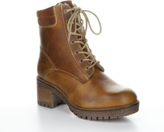 Bos. & Co. Leather Rubber Heel Ankle Boots - Must ang