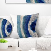 """Abstract Macro of Agate Stone Pillow East Urban Home Size: 16"""" x 16"""", Product Type: Throw Pillow"""
