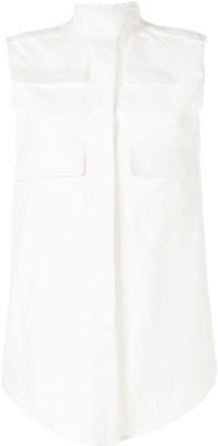 Vera Wang Multi-Pocket Sleeveless Shirt