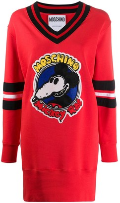 Moschino Mickey Rat sweater dress