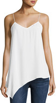 Laundry by Shelli Segal Solid Crepe Slip Tank, White