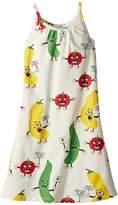 Mini Rodini Veggie All Over Print Strap Dress Girl's Dress