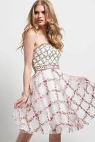 Jovani 45733 Multi-Colored Strapless A-line Dress