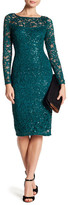 Marina Sequined Long Sleeve Lace Dress