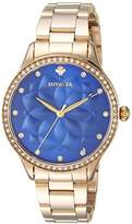 Invicta Women's 'Wildflower' Quartz and Stainless Steel Casual Watch, Color:Gold-Toned (Model: 24537)