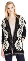 Velvet by Graham & Spencer Women's Chevron Print Sweater Cardigan