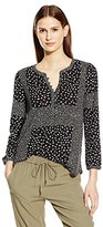 Lucky Brand Women's Placed Ditsy Print Top