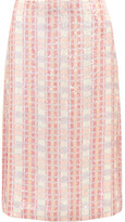 J.Crew Collection Sequined Silk-georgette Midi Skirt - Pink
