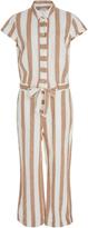 Frame Striped Linen Jumpsuit
