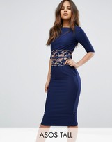Little Mistress Tall Pencil Midi Dress With Embroidered Detail