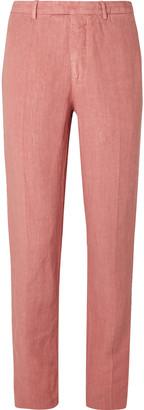 Boglioli Slim-Fit Linen Suit Trousers - Men - Pink