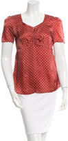 See by Chloe Polka Dot Short Sleeve Top