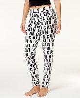 Calvin Klein Modern Allover-Logo Pajama Pants QS5572