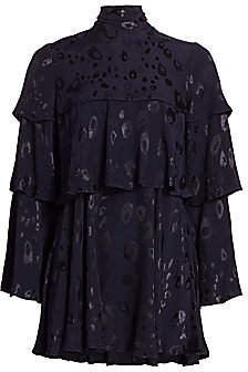 Alexis Women's Latanya Leopard Print Tiered Shift Dress