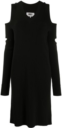 MM6 MAISON MARGIELA Cut-Out Knitted Dress