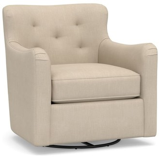 Pottery Barn Nina Upholstered Swivel Armchair