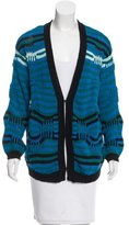 Sandro Abstract Patterned Knit Cardigan