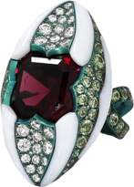 Arunashi Rhodolite And Demantoid Garnet Ring