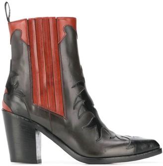 Sartore applique detail boots