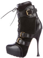 Brian Atwood Niki Platform Ankle Boots