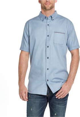 Weatherproof Vintage Men Slub Woven Short Sleeve Shirt
