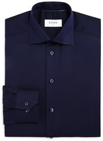 Eton of Sweden Textured Solid Slim Fit Dress Shirt