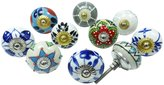 Ibacrafts Multicolour Knob Ceramic Drawer Pull Cabinet Hardware Kitchen Knobs Lot Of 10 Pcs