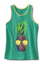 Classic Girls Plus Graphic Racerback Tank-Cool Spearmint Pineapple